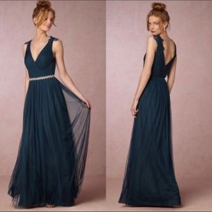 BHLDN by Watters and Watters navy blue pippa gown